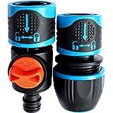 GRÜNTEK Raccord de tuyau et connecteur 1/2 ', 3/4', 5/8 ' avec arrêt d'eau système Aqua-Stop.