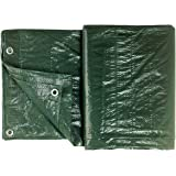 Colorus Tarpaulin dekzeil 48m² | Green 6 x 8 m | Fabric dekzeil tuinmeubilair | weerbestendig dekzeil | dekzeil met oogjes |