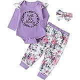 Conjunto De Trajes Florales para Niñas Recién Nacidas Mamelucos Tops Y Pantalones Monos Ropa De Bebé Conjuntos De Pantalones