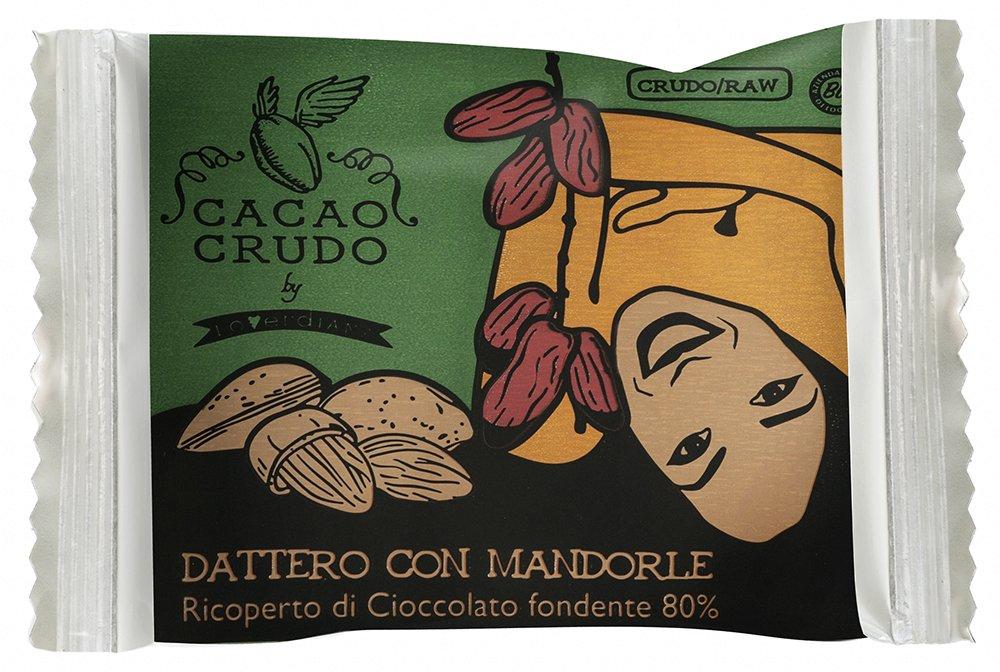 Cibocrudo Monoporzione di Frutta Secca con Datteri Medjoul e Mandorle Ricoperti di Cioccolato Fondente 80% - 25 gr… 1 spesavip