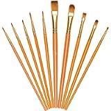 Vicloon Pennelli da Pittura, 10 Pezzi Pennelli per Dipingere di Nylon, Artista Pennello Set di Acrilico Acquerello e…