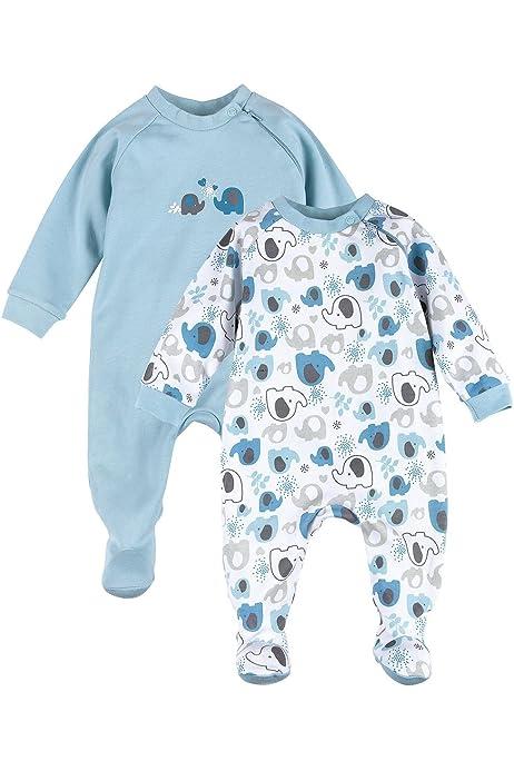 , 2er Pack NAME IT Baby-Jungen 13173261 Schlafstrampler Herstellergr/ö/ße: 68 Cashmere Blue Cashmere Blue Mehrfarbig