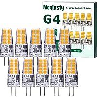 10 Pezzi Lampadina LED G4 3W, Equivalente a 30W Lampada Alogena, AC/DC 12V Mini Led Lampadine G4 300LM, Bianco Caldo…