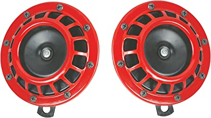 Auto Hub Red Grill Bike Horns, Vehicle Horn - Pack of Two
