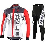GWELL Fietsshirt voor heren, fietskleding, ademend, fietsshirt met korte mouwen en fietsbroek met 3D-zeem