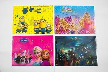 Shopkooky Minion Barbie Frozen Avengers Printed Designer Folder (Clear)-Pack of 12