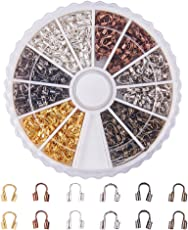 PandaHall Elite 6 Colors Brass Wire Guardian Wire Protector in Box for Jewelry Making