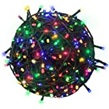 Citra 200 LED 45M Black/White Wire Fairy String Tree Twinkle Lights 8 Modes for Diwali Christmas Party, Outdoor, Garden, Wedd