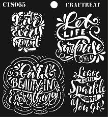 """CrafTreat Stencil Sentiments 6""""X6"""""""