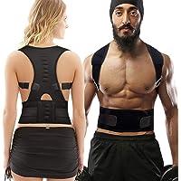 HYX Correttore di Postura Spalle Schiena Supporto, a Fascia Traspirante Regolabile Posturale Correzione per Uomo e Donna…