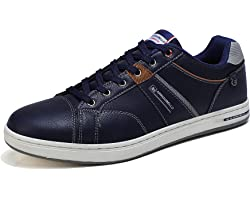 ARRIGO BELLO Mens Casual Shoes Trainers Walking Business Comfy Leather Hiking Non-Slip Running Size 7-11
