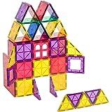 Playmags Juego de iniciación de 60 Piezas: con los imanes más Fuertes garantizados, Robusto, súper Duradero con Azulejos de C