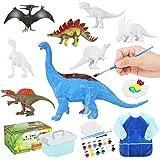 Auney Kit de Pintura de Dinosaurios para niños Pintar Dinosaurios, Juguetes de Dinosaurios para Manualidades, Juego de Sumini