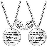 Coagurmes Juego de 2 collares BFF para mejores amigos de larga distancia, regalos de amistad, no importa dónde cumpleaños, gr