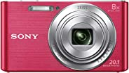 Sony CyberShot DSC W830 20.1 MP Point and Shoot Camera (Pink) with 8X Optical Zoom and Camera Case