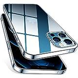 HOOMIL iPhone 12 fodral, mobiltelefonfodral för iPhone 12 fodral transparent tunt silikonfodral mjukt TPU transparent skyddsf