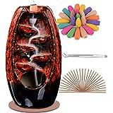 SPACEKEEPER Soporte para Quemador de Incienso de reflujo, Adorno de cerámica para aromaterapia, decoración del hogar con 120