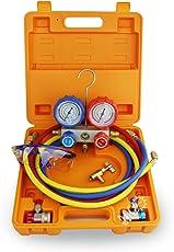 BACOENG Mannigfaltigkeit Manifold Gauge Set mit 4FT Schlauch Auto Klimaanlage Für R134A R410A R407C R22