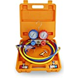 BACOENG Manifold Gauge Set Manomètre Idéal pour R22 R134a R410A R407C Collecteur Jauge Ensemble
