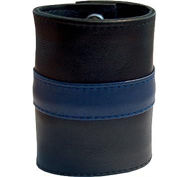 Lederarmband breit  Mister B. 411312 - Lederarmband Geldbörse mit blauem Streifen - Gr ...