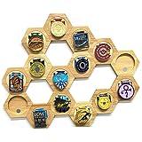 Medaille Houder Display Rack Medaille Houder Stand Houten Medaille Display Stand Zeshoekige Hout Medaille Stand Jigsaw Honing
