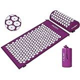 INTEY Akupressur-set Akupressurmatta för bra avspänning, akupressurkudde för att underlätta nacksmärtor med en bärväska för m