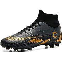 Donbest Chaussures de Football Homme Crampons Professionnel Spike Chaussure de Foot Antidérapant pour garçon High Top