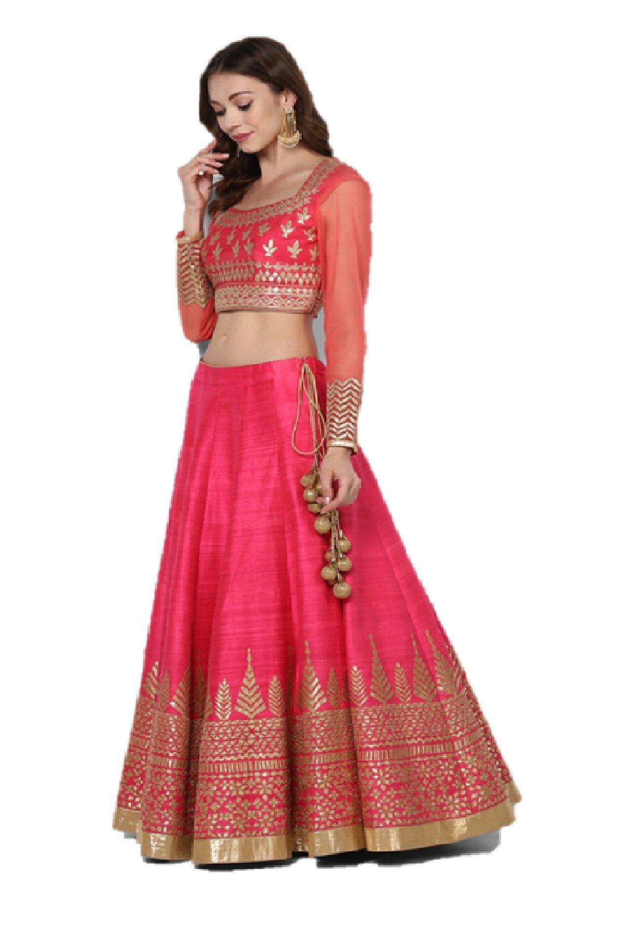 55231fbd0e Pushp Paridhan New Collection Stylish Traditional Ethnic Wear Gota Patti  Work Hot Pink Lehenga Choli Set For Women