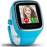 XPLORA 3S - Wasserdichte Telefonuhr (SIM-Free) - Sprachanrufe, Messenger, Schulmodus, Sichere Bereiche, SOS, GPS, Kamera und Schrittzähler (BLAU)