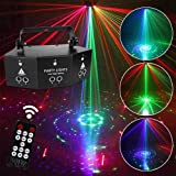 9-eye RGB Disco Light, Stage Light Strobe Pattern Light Party Lights Projector Lamp DMX Remote Control Sound Activated Light