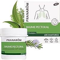 Pranarôm   Aromaforce   Baume Pectoral Bio (Eco) aux Huiles Essentielles biologiques   Effet Chauffant   80 ml