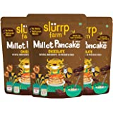 Slurrp Farm Instant Breakfast Millet Pancake Mix, Chocolate and Supergrains, Natural and Healthy Food, 150g (Pack of 3)