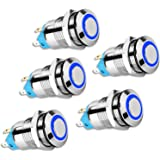 Wekon 3 Stück 4 Pin Wasserdicht Druckschalter Kippschalter 12 24 V Led Ip66 Drucktaster Druckknopf Ein Aus Schalter Für Auto Rv Lkw Boot Auto