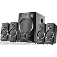 Bass Barrel BB-22 4.1 Bluetooth Multimedia Home Theater Speaker System with Mic, FM, USB/Pendrive, AUX Support.