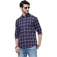 Maniac Checked Men's Fullsleeve Slim Fit Cotton Casual Shirt