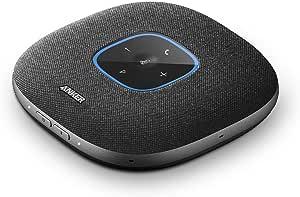 Anker PowerConf S3 - Altoparlante per conferenze Bluetooth, 6 microfoni integrati, registrazione audio migliorata, 24 ore di conversazione, controllo app, Bluetooth 5, USB-C, ideale per ufficio e casa