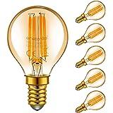 Emotionlite E14 LED Ampoules, Ampoules à incandescence à LED, 4W (Equivalent 40W), E14 Candélabre, Ambre Glow, 2200K, Paquet