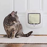 Gattini e Gattini H Versione aggiornata L- Inner size: 7.1 CEESC Porta Gatto Magnetica Porta Animali domestici con 4 Vie Serratura Rotativa per Gatti x 7.7 W
