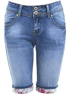 SS7 Femmes Jeans Genou Short, Tailles 36 à 44:
