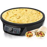 Aigostar Moabit 30CES - Appareil pour faire des crêpes, galettes et pancakes de 1000W. Anti-adhésif. Garantie de qualité.