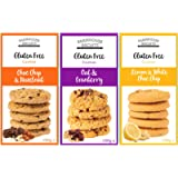 Farmhouse Biscuits Gluten Free Cookies Selection - Choc Chip & Hazelnut, Lemon & White Choc Chip and Oat & Cranberry