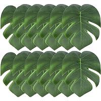 JieGuanG Lot de 12 feuilles de palmier artificielles pour décoration de fête hawaïenne, 15,2 cm