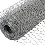 NIEDERBERG METALL Grillage Métallique pour Cloture Maillage Hexagonal : 25x25mm Longueur 25m Hauteur 100cm Clôture pour Animaux et Plantes Galvanisé 0.8mm