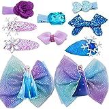 WENTS Disney Frozen fermacapelli 10PCS Tornante per Bambini Multi-Style Clip per Ragazza per Festa Festival Foto Puntelli e D