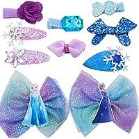 WENTS Frozen Hair Accessories 10PCS Disney Children Hairpin Princess Dress Up Accessories Kids Hair Accessories Clip for Wedding Party Pageant Bridesmaid Princess Kids