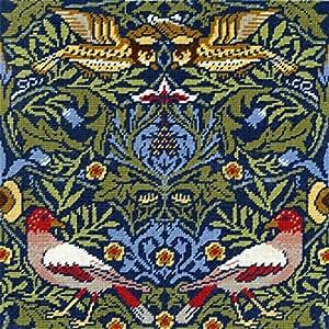 Bothy Threads Kit de William Morris d'Oiseau Kit point de croix compté Motif Aida 14fils/cm²