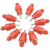Create Idea 10pcs Eau Tetine Poulet Mamelon et Boisseau en PVC avec Raccord en T/é 1//8 Pouce Filet/é