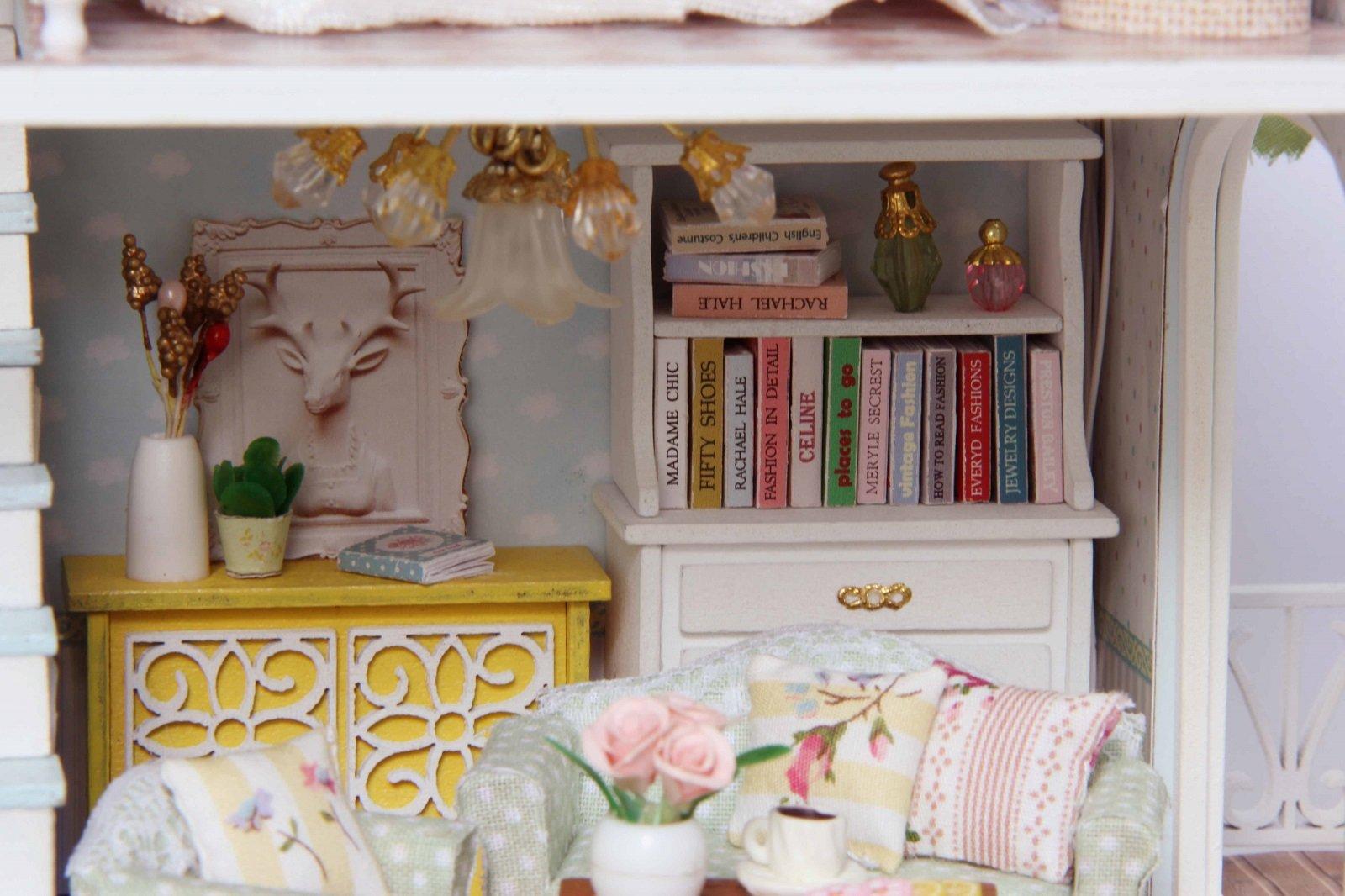 Mobili Per Casa Delle Bambole Fai Da Te : Kit per casa delle bambole fai da te in miniatura in legno fatta