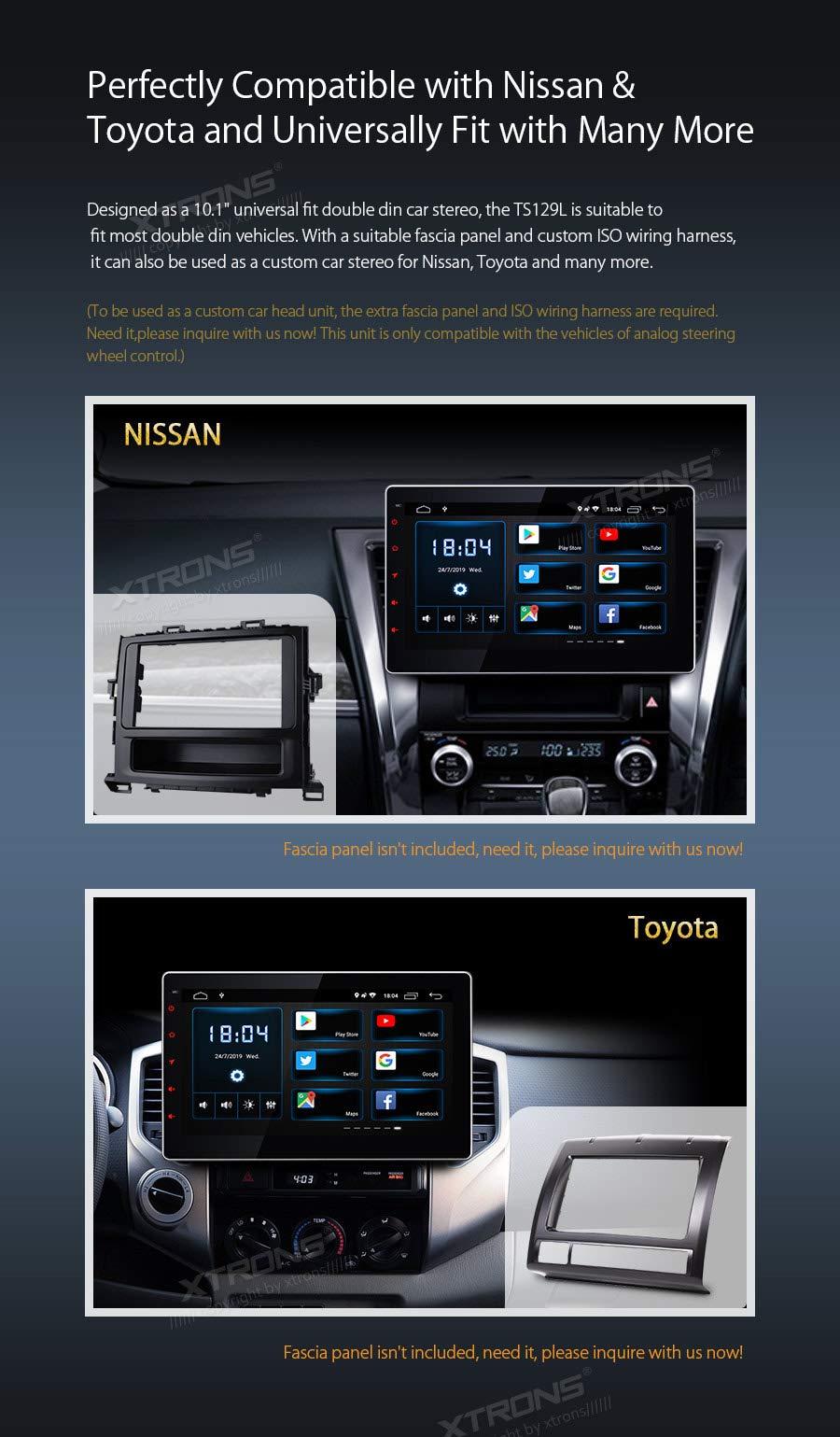 XTRONS-101-Android-Autoradio-mit-Touch-Screen-Double-Din-Mutimedia-Player-Autoradio-mit-Quad-Core-3G-4G-Bluetooth50-2Din-2GB-RAM-16GB-ROM-OBD2-Voll-RCA-Ausgang-UNIVERSAL
