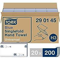 Tork Essuie-mains pliés en V - 290145 - Papier d'essuyage de qualité Universal pour Distributeur H3 - Origine traçable…